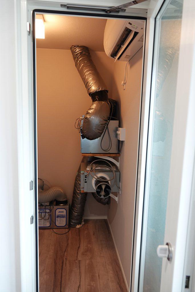 アルデ全館空調システム「快空の家」空調室施工例